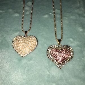 💝Betsey Johnson Heart Pendant Necklaces💝